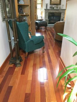 Hallway wood flooring